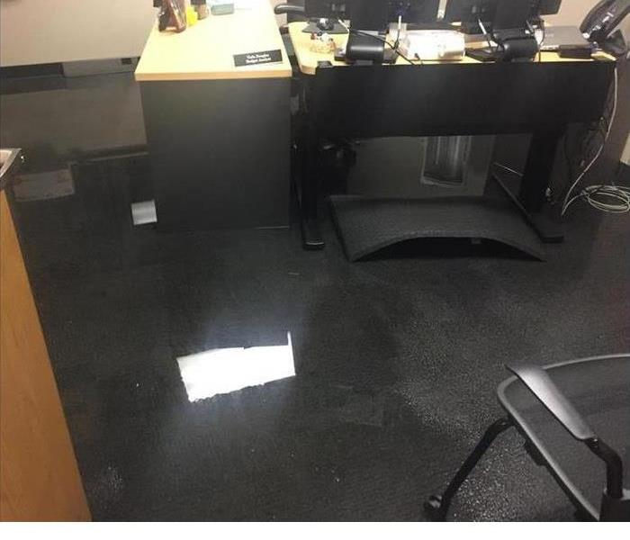 Flooded Office After Pipe Break